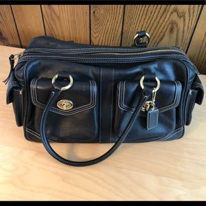 COACH Black Leather Satchel Legacy Edition 1808